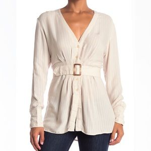 Free People Belted Blouse